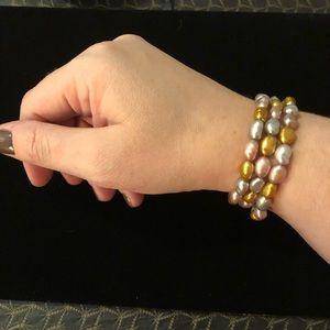 Multicolor Freshwater Pearl Bracelet Set